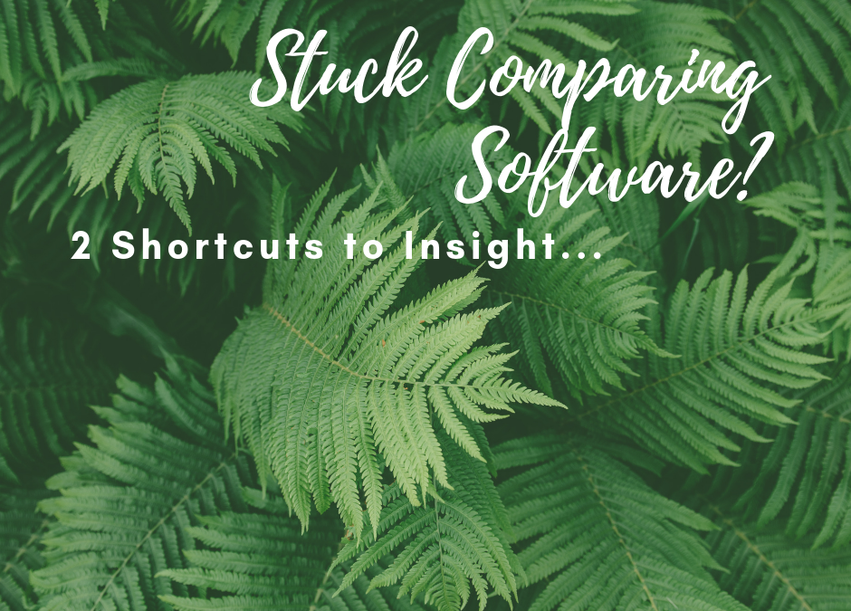 Stuck Comparing Software? 2 Shortcuts to Insight